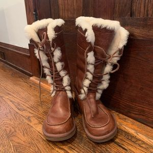 Leather ugg boots. Only worn twice!